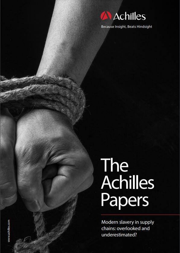 Modern Slavery Achilles whitepaper front cover